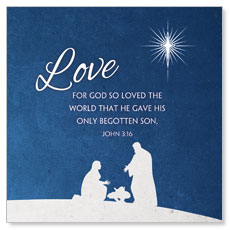Advent Love Window Banner