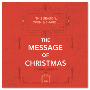 The Message of Christmas Window Banners