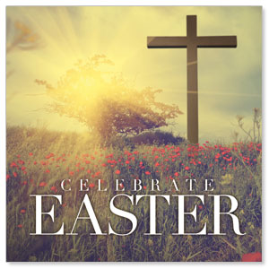 Celebrate Easter Cross Window Banners
