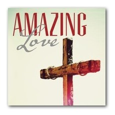 Amazing Love Cross Window Banner