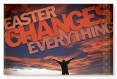 Easter Changes Everything Banner