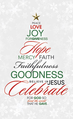 Christmas Word Tree Banner Church Banners Outreach