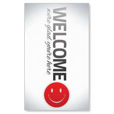 Pinstripe Welcome Banner