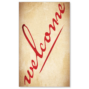 Red Script Welcome WallBanners
