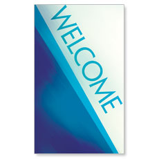 Color Rays Welcome Banner