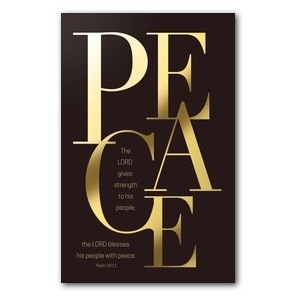 Gold Letters Peace Banners