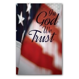 God We Trust WallBanners