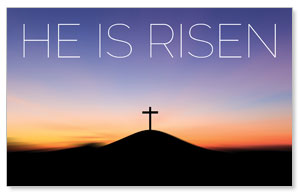 He Is Risen Sunrise WallBanners