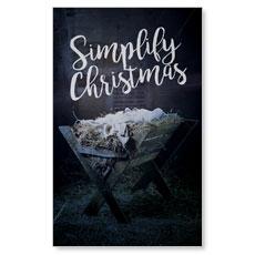 Simplify Christmas Manger Banner