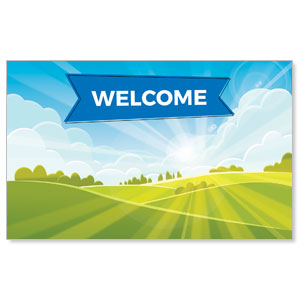 Bright Meadow Welcome WallBanners