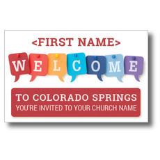 WelcomeOne Talk Bubbles New Mover Card