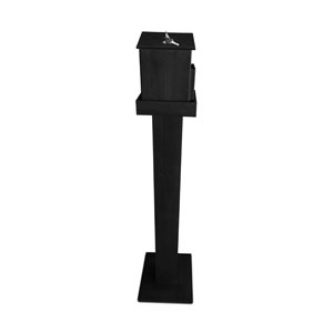 Wood Offering Box and Stand Combo - Black Signs and Stands