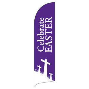 Easter Purple Flag Banners
