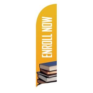 Enroll Now Flag Banner Banners