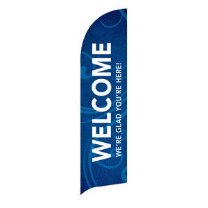 Flourish Welcome Flag Banner