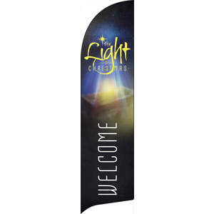 The Light of Christmas Flag Banner Flag Banner