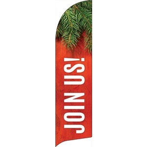 Tis The Season Join Us Flag Banner