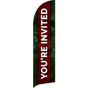 Pine Greenery You're Invited Banners