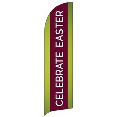 Celebrate Easter Stripe Banner