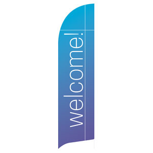Color Wash Welcome Flag Banner