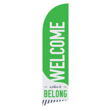 To Belong Green Banner