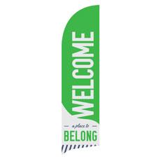 To Belong Green Banner