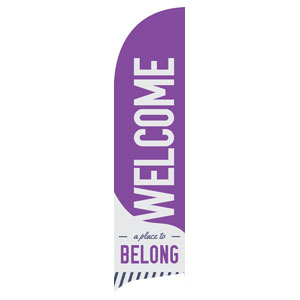 To Belong Purple Banners