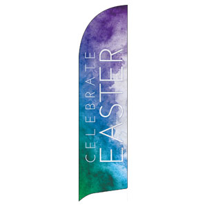 Celebrate Watercolor Easter Flag Banner