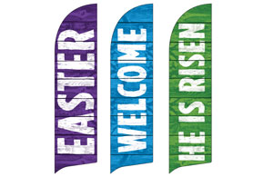 Easter Welcome Set Flag Banner