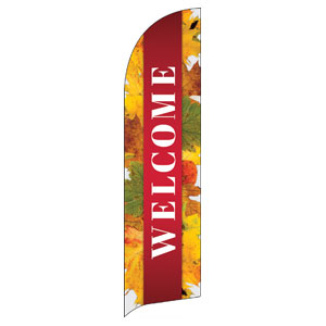 Leaves Youre Invited Flag Banner