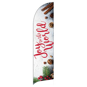 Joy To The World Snow Flag Banner