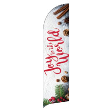 Joy To The World Snow Banner