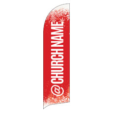 Red and Snow Church Name Banner