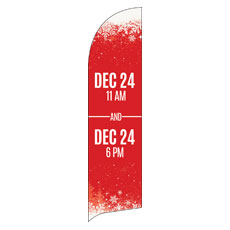 Red and Snow Service Info Banner