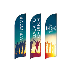 BTCS You Belong Here (3 pack) Flag Banner