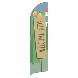 Woodland Friends Welcome Flag Banner