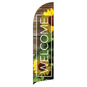 Wooden Slats Summer Flag Banner