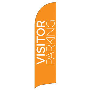 Visitor Parking Orange Banners