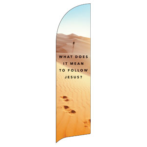 Following Jesus Sand Dunes Flag Banner