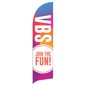 Curved Colors VBS Join the Fun Flag Banner