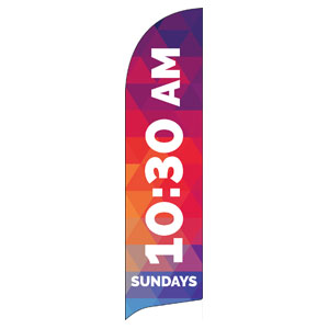 Geometric Bold 1030 AM Flag Banner