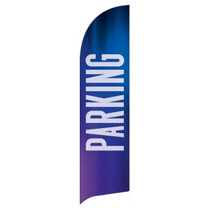 Aurora Lights Parking Flag Banner
