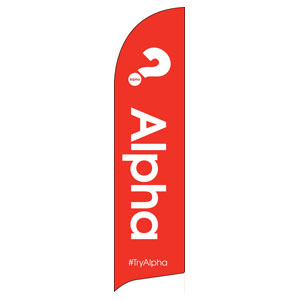Alpha Red Flag Banner