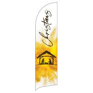 Gold Powder Creche Flag Banner