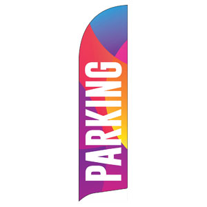 Curved Colors Parking Flag Banner
