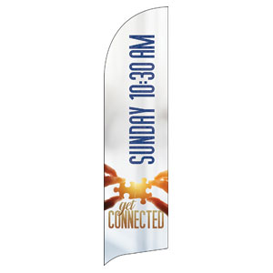 Connected 1030 AM Flag Banner