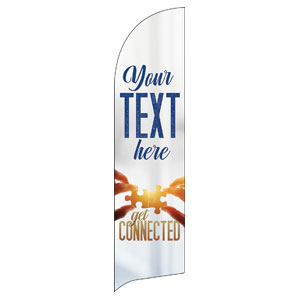 Connected Your Text Flag Banner