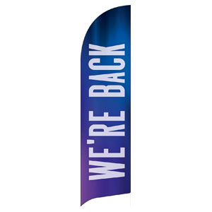 Aurora Lights We're Back Flag Banner