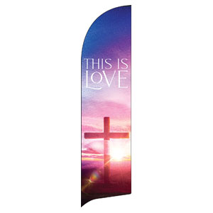 Love Easter Colors Flag Banner