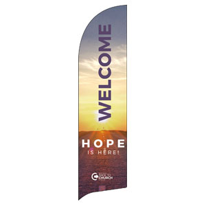 BTCS Hope Is Here Welcome Flag Banner